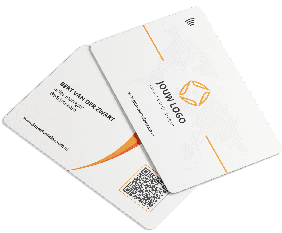 Smart Personalised Business card QuickConnected corona proof slim