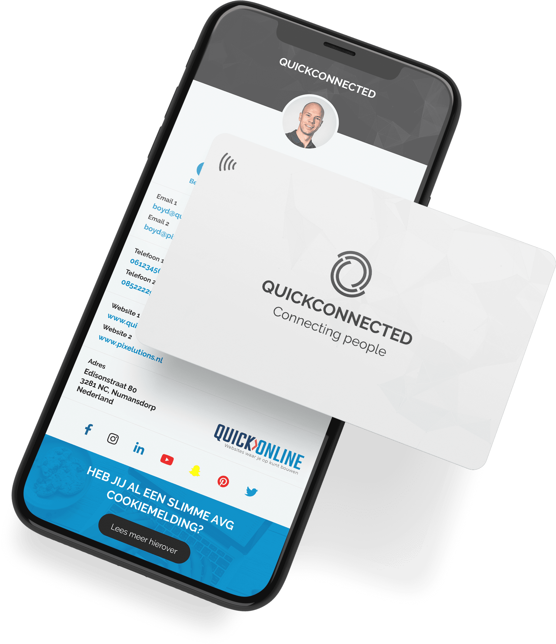 QuickConnected business card nfc